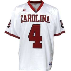 Russell South Carolina Gamecocks #4 White Tackle Twill
