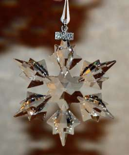 SWAROVSKI Crystal LARGE STAR SNOWFLAKE Ornament 2010