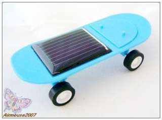 Solar Powered Skateboard Toy Gadget for Fun Blue