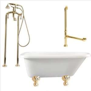 Giagni LA2  Augusta 54 Roll Top Tub with Floor Mount Faucet Faucet