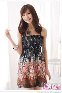 Black New Fashion Summer Girl Sleeveless Mini Dress S M