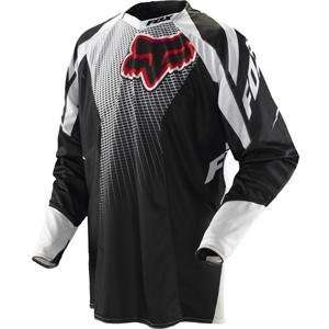 2011 Fox Racing Platinum Race Jersey   Black / Red   X