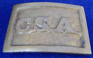 CSA Confederate States America Civil War Belt Buckle
