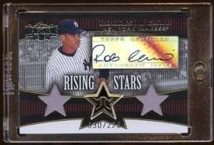 ROBINSON CANO 2006 TOPPS RISING STAR AUTO DUAL JERSEY