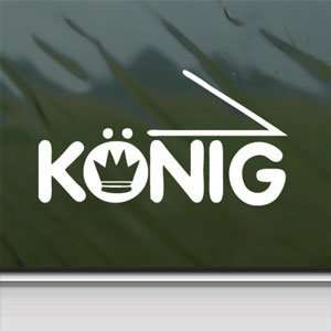 Konig White Sticker Car Window Vinyl Laptop White Decal