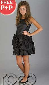 CHEAP PROM DRESSES GIRLS BLACK PUFFBALL PARTY DRESS SIZE AGE 6   14