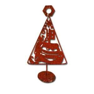Red Cars 10 Metal Christmas Tree with Glitter