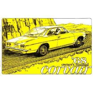 1968 CHEVROLET CORVAIR Owners Manual User Guide