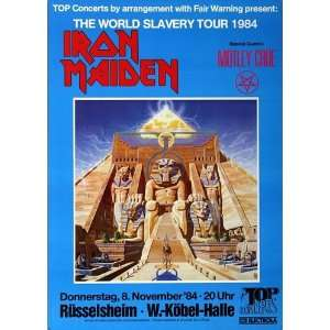 Iron Maiden   The World Slavery 1984   CONCERT   POSTER