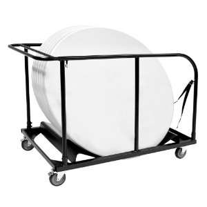 Round Folding Table Dolly Black