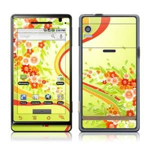 Flower Splash Design Protective Skin Decal Sticker for Motorola Droid