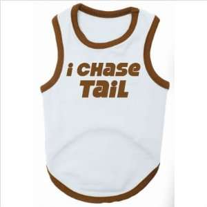I Chase Tail Dog T Shirt in Blue / Brown Size Large Pet