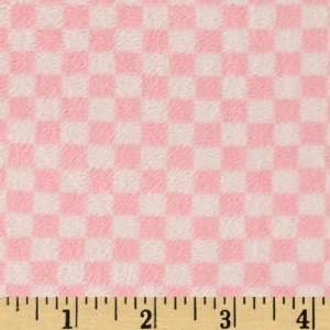 5860 Wide Checker Cuddle Baby Pink Fabric By The Yard