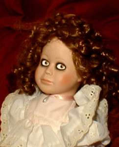 HAUNTED Antique Porcelain Doll EYES FOLLOW YOU OOAK