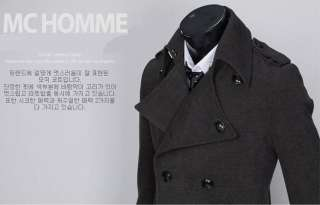 2011 NEW Mens Fashion Handsome Big Lapel Design Slim Long Trench Coat