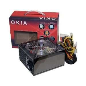 Okia Titanium Black 650w Watt Gaming Power Supply Dual Fan