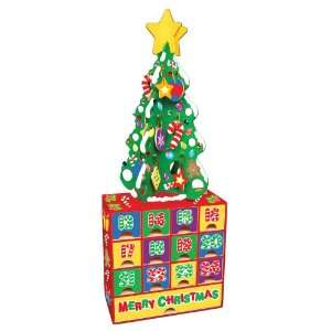 Decorate Your Own Wooden Christmas Tree Advent Calendar Toys & Games