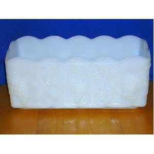Anchor Hocking Fire King White Milk Glass Planter/Tray