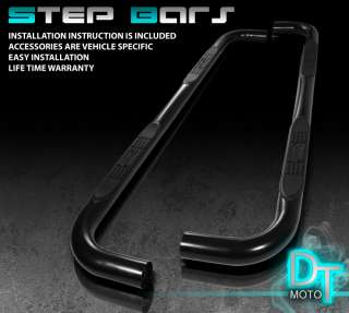 04 08 F150 SUPER CAB BLACK 3 SIDE STEP NERF BAR RUNNING BOARD w