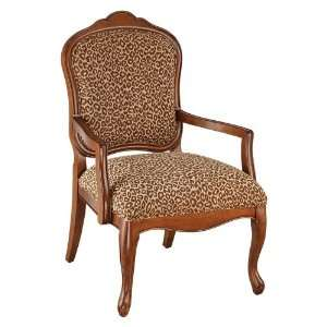 Kenna Leopard Print Fabric Accent Chair