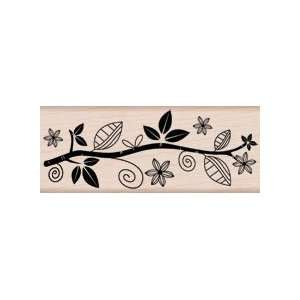 Leaf Branch Border Wood Mounted Stamp (Hero Arts) Arts