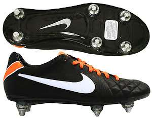 Nike Tiempo Legend IV 4 Elite SG Black/White Mens Soccer Cleats 453956