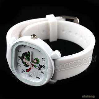 Wholesale Charms Children/Kids/Boys/Girls White Silicone Wristwatchs