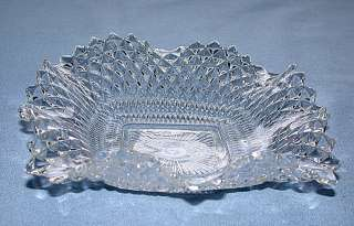 Depression Indiana Glass Co. Diamont Point Crystal Bowl
