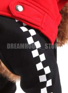 New Red Warm Winter Dog Coat Jacket Jumpsuit Apparel