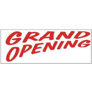 Grand Opening Red Bold Business Banner