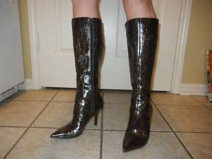 NEW Nine West Snake Skin Pattern Knee High Boots