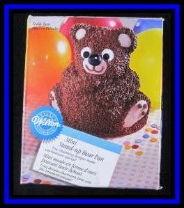 NEW Wilton **3D MINI Stand up BEAR** Cake Pan Set NIB