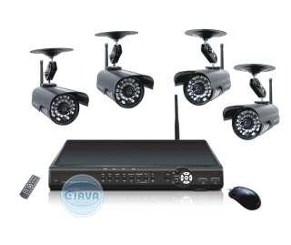 Wireless Camera Surveillance Home Security W/ Network DVR System Kit