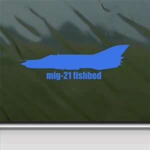MiG 21 FISHBED Blue Decal Military Soldier Window Blue