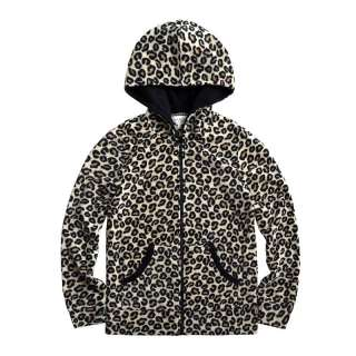 Vancl Leopard Pattern Polar Fleece Hoody/Hoodies/Coat Gray(Women