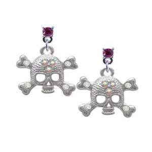 AB Crystals Hot Pink Swarovski Post Charm Earrings [Jewelry] Jewelry