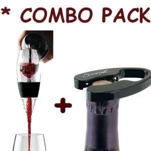 RED Wine Aerator ** AND ** Epic Screwpull Foilcutter Combo Kit Baby