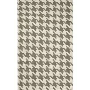 Houndstooth Area Rug   2x3, Coral