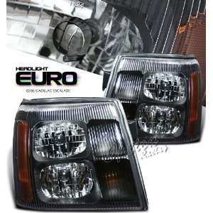 2002 2006 CADILLAC ESCALADE,SUV HEADLIGHT, BLACK W/O HID