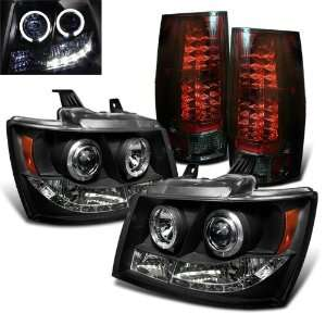 Eautolight 2007 2011 Chevy Suburban Tahoe Twin Halo LED Projector Head