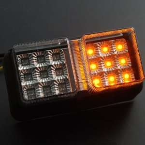 Bright Integrated 18 LED Brake Rear Stop Tail Lights Turn