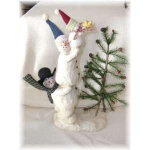Country Snowman Star the Christmas Tree Figurine Snowmen Family Decor