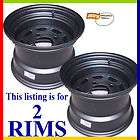 10x7 Riding Lawn Mower 4x4 Black Steel Rims Wheels