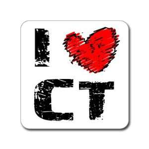 I Love Heart CT   CONNECTICUT   Window Bumper Laptop