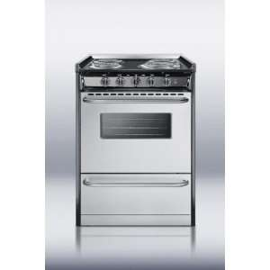 TEM610BRWY Professional 24 Electric Range With Stainless