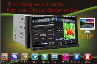 HD 2 DIN CAR DVD GPS BLUETOOTH Touch Screen SD Ipod