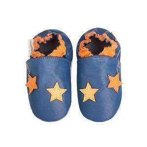 Momo Baby Soft Sole Baby Shoes   Stars Navy (0 6 months) Toys & Games