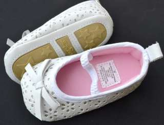 white Mary Jane kids baby toddler girl shoes size 2 3
