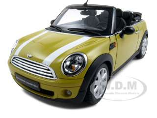 2009 MINI COOPER R56 CONVERTIBLE YELLOW 1/18 KYOSHO