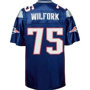 New England Patriots NFL Jerseys #75 Vince Wilfork BLUE